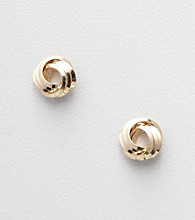 Napier® Goldtone Knotted Stud Earrings