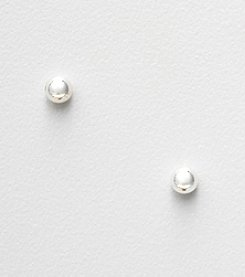 Napier® Silvertone Small Ball Stud Earrings