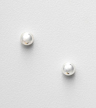 Napier® Silvertone Medium Ball Stud Earrings