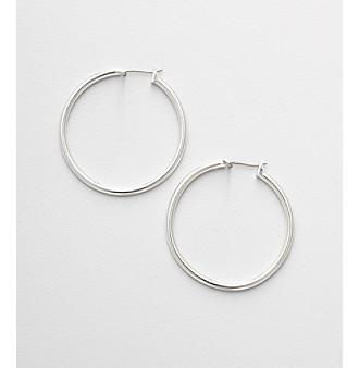 Napier® Silvertone Large Hoop Earrings