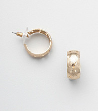 Napier® Goldtone Wide Hoop Earrings