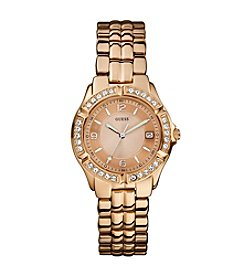 GUESS Women's Rose Goldtone Mid Size Sport Watch