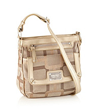 Nine West® Vegas Signs Small Zip Top Crossbody - Khaki/Gold
