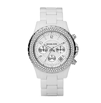 Michael Kors® Women's Stainless Steel And White Acetate