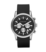 Michael Kors® Men's Silicone Black Watch
