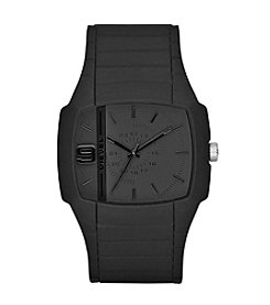 Diesel Men's Black Silcone Watch