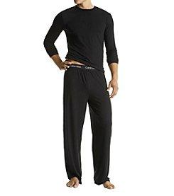 Calvin Klein Men's Black Micro Modal Crewneck Shirt