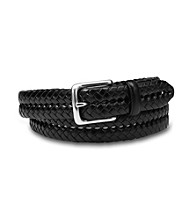 Fossil® Men's Black Maddox Braided Belt