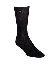 Calvin Klein Men's 3-Pack Ribbed Dress Socks