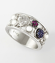 Effy® Sterling Silver Mixed Gemstone Ring