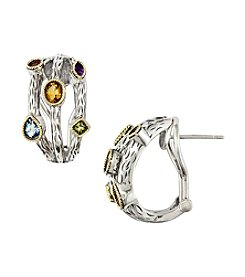 Effy® Sterling Silver Mixed Semi-Precious Hoop Earrings