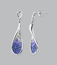 Impressions® Sterling Silver Swarovski® Elements Earrings - Purple/White Fade