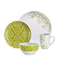 Rachael Ray® Green Curly-Q 16-pc. Dinnerware Set