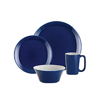Rachael Ray® Blue Round and Square 16-pc. Dinnerware Set