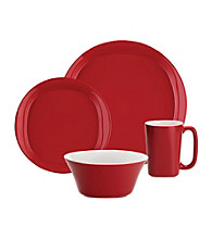 Rachael Ray® Red Round and Square 16-pc. Dinnerware Set