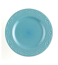 Paula Deen® Signature Aqua Bas Relief Whitaker Set of 4 Dinner Plates