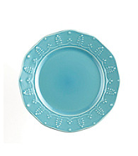 Paula Deen® Signature Aqua Bas Relief Whitaker Set of 4 Salad Plates
