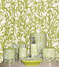 Waverly® by Famous Home Fashions® Birdsong Apple Green Shower Curtain and Boutique Set
