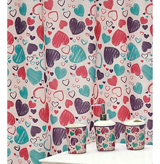 Hearts Pink Bath Set - 16 Pc.