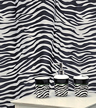 Zebra Black Bath Set - 16 Pc.
