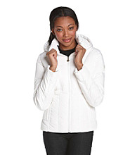 Calvin Klein Hooded Goldtone-Trimmed Down Jacket