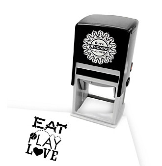 "Three Designing Women® ""Eat, Play, Love"" Stamp Insert"