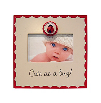 "New View ""Cute as a Bug!"" 4x6"" Sentiment Picture Frame"