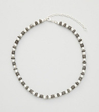 Napier® Silvertone Beaded Collar Necklace