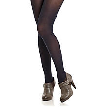 HUE® Navy Opaque Control Top Tights