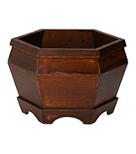 Nearly Natural® Wooden Hexagon Decorative Planter (Set of 3)