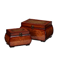 Nearly Natural® Decorative Lacquered Wood Chests (Set of 2)