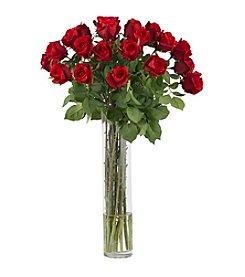 Nearly Natural® Rosebud with Cylinder Silk Flower Arrangement