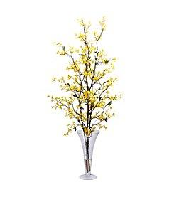 Nearly Natural® Forsythia with Vase Silk Flower Arrangement