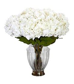 Nearly Natural® Large Hydrangea with European Vase Silk Flower Arrangement