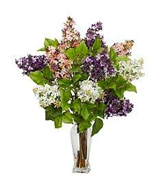 Nearly Natural® Lilac Silk Flower Arrangement