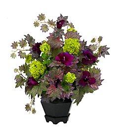 Nearly Natural® Morning Glory & Hydrangea Arrangement