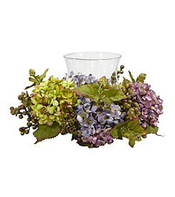 Nearly Natural® Mixed Hydrangea Candelabrum Silk Arrangement