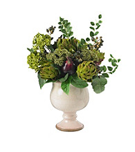 Nearly Natural® Artichoke and Hydrangea Silk Flower Arrangement