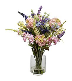 Nearly Natural® Lavender & Hydrangea Silk Flower Arrangement