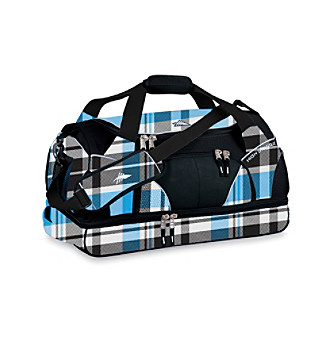 High Sierra® Crunk Trunk Cross-Sport Duffel - Blue-Black Crosshatch/Black