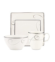 Noritake Platinum Wave Square 4-pc. Place Setting