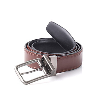John Bartlett Statements Men's Reversible Black/Brown Belt
