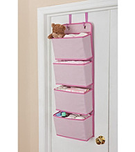 Delta 4-Pocket Over the Door Organizer - Pink