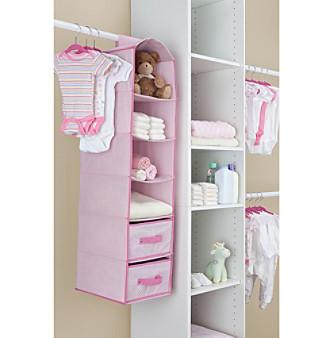 Delta Pink 4-Shelf Closet Storage with Drawers