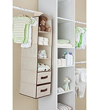 Delta Beige 4-Shelf Closet Storage with Drawers