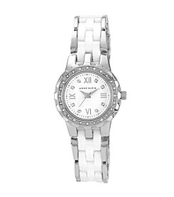 Anne Klein® Ceramic Crystal Watch - White