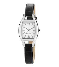 Nine West® Cushion Strap Watch - Black