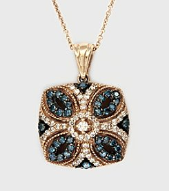 Effy® 14K Yellow Gold .45 ct. t.w. Diamond Pendant - White/Blue