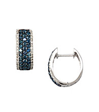 Effy® 14K White Gold 1.3 ct. t.w. Diamond Earrings - Blue/White