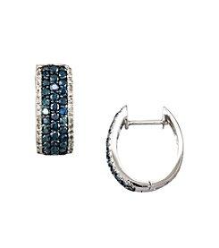 Effy® 14K White Gold 1.3 ct. t.w. Diamond Earrings - Blue/White
